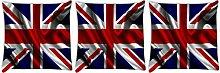 Snoogg Britische Flagge Tapete 3Stück Digital Kissenbezug, bedruckt Kissen 30,5x 30,5cm