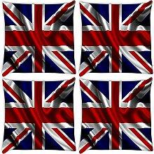 Snoogg Britische Flagge Tapete 4Stück Digital Kissenbezug, bedruckt Kissen 35,6x 35,6cm