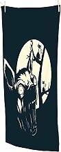 Snoogg Funny T shirt Design mit Angry Chihuahua Strandtuch Super Weich und Saugfähig Mikrofaser 76,2x 147,3cm Bad, Fitnessraum Reise Handtuch