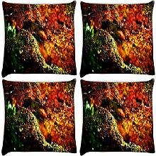 Snoogg Garten Blätter 4Stück Digital Kissenbezug, bedruckt Kissen 40,6x 40,6cm