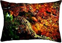 Snoogg Garten Blätter Rechteck Überwurf Werfen Kissenbezug, Decoarative Kissen Fall 50,8x 76,2cm