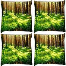 Snoogg Garten Forest 4Stück Digital Kissenbezug, bedruckt Kissen 30,5x 30,5cm