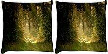 Snoogg Garten und Wald 2Stück Digital Kissenbezug, bedruckt Kissen 61x 61cm