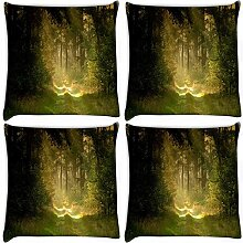 Snoogg Garten und Wald 4Stück Digital Kissenbezug, bedruckt Kissen 55,9x 55,9cm