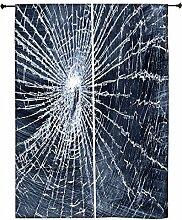 Snoogg gebrochenen Bildschirm Polyester Drapes Verdunklungsvorhänge 76,2cm W x 152,4cm L (Set von 2)