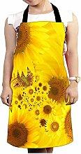 Snoogg gelb Sonnenblumen Design Küche Köche Schürze für Damen und Herren