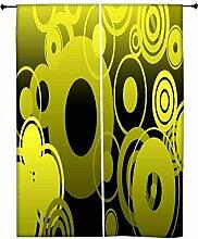 Snoogg Geometrische Polyester Drapes Verdunklungsvorhänge 76,2cm W x 152,4cm L (Set von 2)