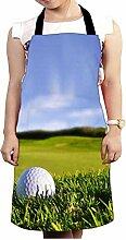 Snoogg Golf Ball Design Küche Köche Schürze für Damen und Herren