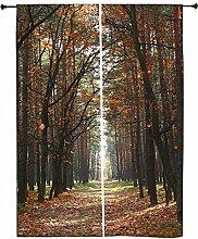 Snoogg Herbst Polyester Drapes Verdunklungsvorhänge 76,2cm W x 152,4cm L (Set von 2)