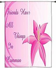 Snoogg Hintergrund mit Lily Flower Polyester Drapes Verdunklungsvorhänge 76,2cm W x 152,4cm L (Set von 2)