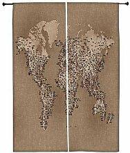 Snoogg Karte mit Stoff Polyester Drapes Verdunklungsvorhänge 76,2cm W x 152,4cm L (Set von 2)