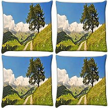 Snoogg klein, wie in Garten 4Stück Digital gedruckte Kissenbezug Kissen 45,7x 45,7cm