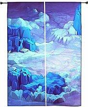 Snoogg Kristall Erde Polyester Drapes Verdunklungsvorhänge 76,2cm W x 152,4cm L (Set von 2)