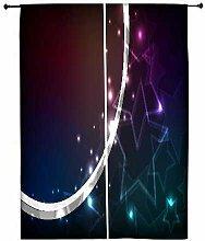 Snoogg Kristalle Sterne Polyester Drapes Verdunklungsvorhänge 76,2cm W x 152,4cm L (Set von 2)