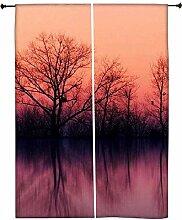 Snoogg natur Tapete Polyester Drapes Verdunklungsvorhänge 76,2cm W x 152,4cm L (Set von 2)
