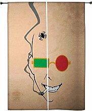 Snoogg Naughty Minimal Polyester Drapes Verdunklungsvorhänge 76,2cm W x 152,4cm L (Set von 2)