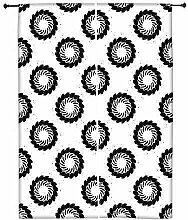 Snoogg schwarz Chakra Polyester Drapes Verdunklungsvorhänge 76,2cm W x 152,4cm L (Set von 2)