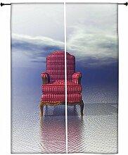 Snoogg Stuhl Polyester Drapes Verdunklungsvorhänge 76,2cm W x 152,4cm L (Set von 2)