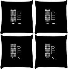 Snoogg Tapete 4Stück Digital Kissenbezug, bedruckt Kissen 40,6x 40,6cm
