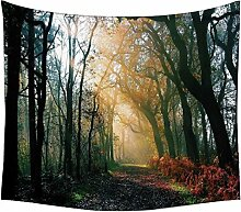 Snoogg Wandteppich, Motiv; Wald, indisches Mandala, abstrakte Kunst, Wandbehang, Dekoration für Wand, Tuch für Strand/ Picknick, Hippie-Stil, Bohemian