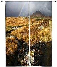 Snoogg Wasser Fließende Polyester Drapes Verdunklungsvorhänge 76,2cm W x 152,4cm L (Set von 2)