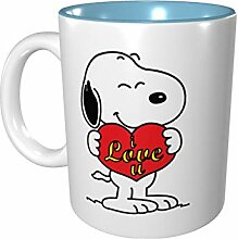 Snoopy Farbige Tasse aus Porzellan, 330 ml,