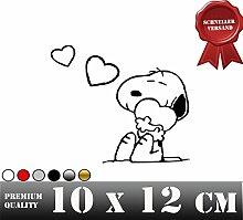 SNOOPY LOVE Autoaufkleber Sticker Aufkleber