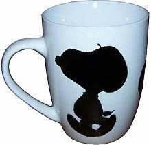 Snoopy Peanuts Henkelbecher (Tasse) aus Porzellan,