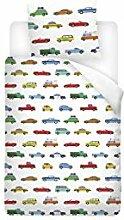 Snoozing Cars - Flanell - Bettwäsche - 120x150 cm