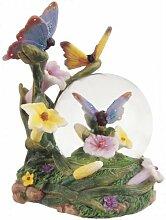 Snow Globe Butterfly Collection Schreibtisch Figur