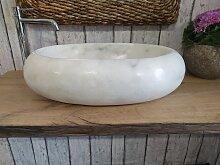 Snow White Marmor waschbecken  121 Maßen 60 x 40