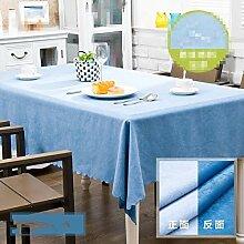 SnowFig Tischdecke Blau Polyester-Baumwolle