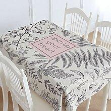 SnowFig Tischdecke Großes Blatt Muster Baumwolle