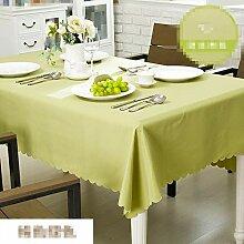 SnowFig Tischdecke Grün Einfarbig Polyesterfaser