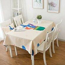 SnowFig Tischdecke Haushalt Farbe Kaktus Baumwolle