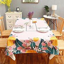 SnowFig Tischdecke Haushalt Rosa Baumwolle und