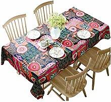 SnowFig Tischdecke Mediterranen Stil Baumwolle und
