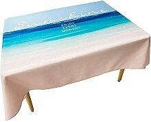 SnowFig Tischdecke Mediterranen Stil Blau Rosa