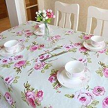 SnowFig Tischdecke Vintage Rose Muster Spitze
