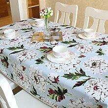 SnowFig Tischdecke Vintage Weiß Blumenmuster
