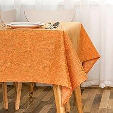 SnowFig Tischdecke Volltonfarbe Orange Leinen Cafe
