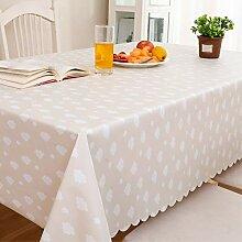 SnowFig Tischdecke Weiße Wolke Muster PVC