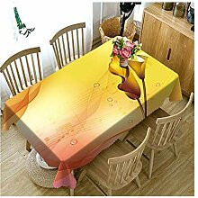 SnowFig Tischdecken Samt Leinen 3D gelbe