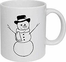 Snowman' Ceramic Mug/Travel Coffee Mug