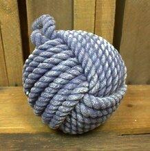 Snowshoe Pair Geschenkartikel blau Seil Knoten Türstopper Versand und Verkauf durch Katie Malone House & Home