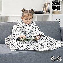 Snug Decke mit Ärmeln, Polyester, Schwarz, 97x