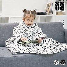 Snug Decke mit Ärmeln, Polyester, Weiß, 97x