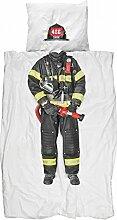 Snurk Bettwäsche Feuerwehr 135 x 200 cm 100%