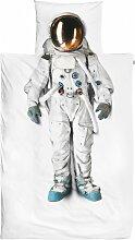 SNURK Kinder-Bettwäsche Astronaut 135x200 cm +