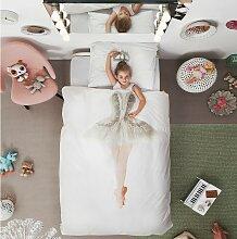 Snurk Kinder-Bettwäsche Ballerina 135x200 cm +